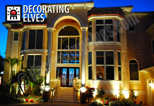 Front-of-2-Story-Home-Uplighting-www.decoratingelves.com