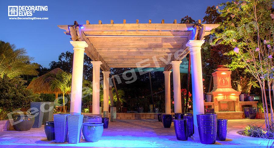 Blue-LED-Arbor-Down-Lighting-www.decoratingelves.com