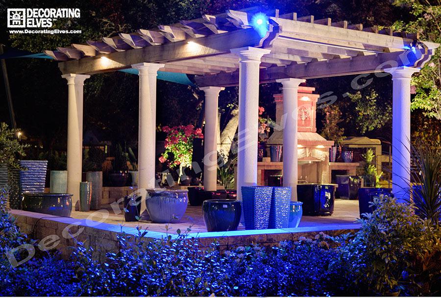 Blue-LED-Pergola-Lightng------www.decoratingelves.com