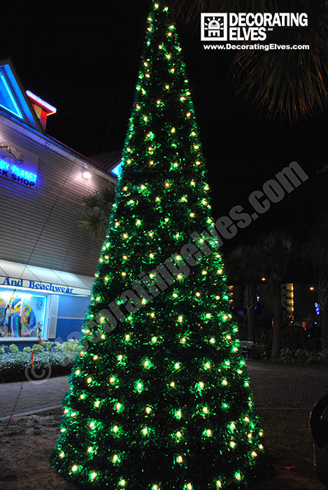 Commercial Outdoor Christmas Decorations.Tampa Holiday Tree Lighting Services Decorating Elves
