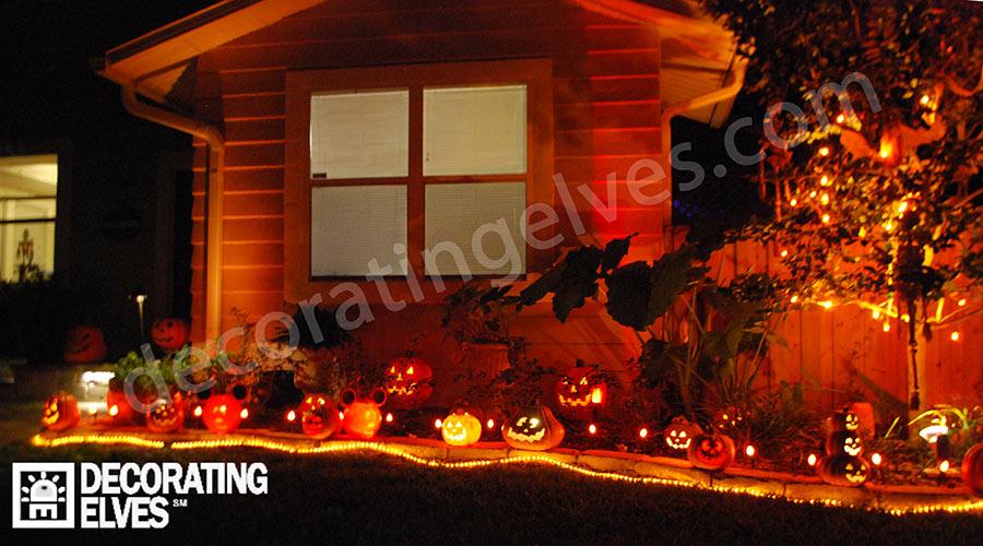 Halloween Lighting Jack-O-Lantern Patch
