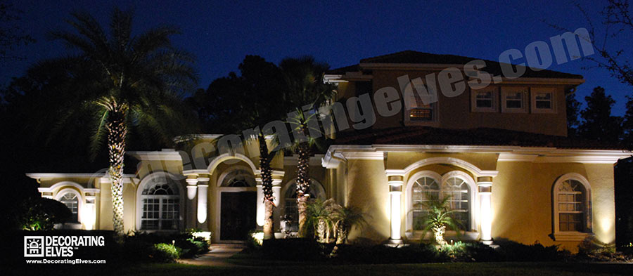 Tampa LED Landscape Lighting Service - Decorating Elves