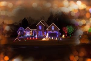 46044585 - christmas decorated house