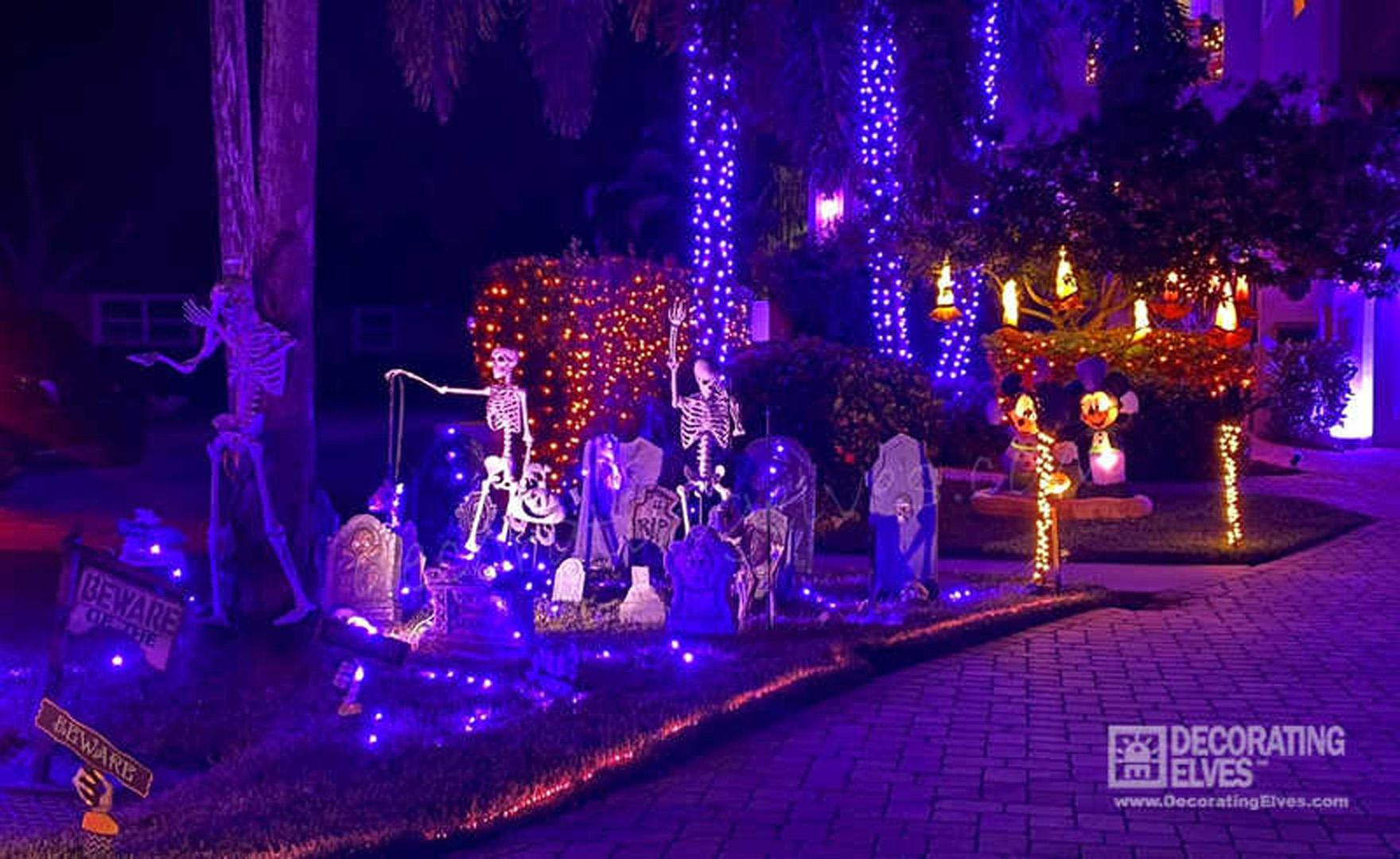 Halloween Left of Driveway