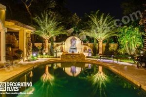 LED-Uplighting-Palms-Mirrored-Reflection-with-Statue-Feature-Lighting-www.decoratingelves.com